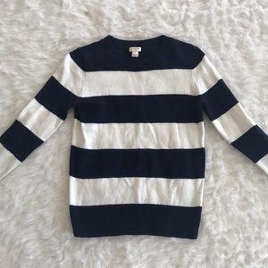 JCrew crewneck striped sweater